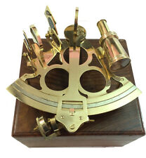 """8"""" Antique Maritime Brass Nautical Sextant ~ Vintage Working Ship Instruments"""