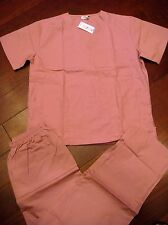 114 Expo Medical Uniform New Unisex style Women Nurses Scrub Set Rose Pink 2XL