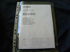 Yamaha  BD-A1010  Factory Original Owner's manual Mode D'emploi Istruzioni New