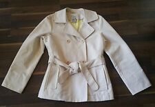 L.L. BEAN Vanilla Double Breasted Rain Executive Waist Coat Women's M #0-GSK1