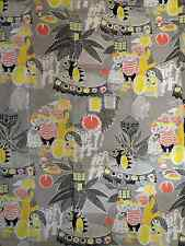 Moomin fabric piece gray 100cm x 70cm for pillows, baby blankets etc.  Finland