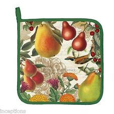 Michel Design Works Cotton Kitchen Potholder Golden Pear - NEW
