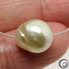 NATURAL COLOR GENUINE LOOSE SOUTH SEA Baroque PEARL - 11.6x10.6mm/ Drilled #S459