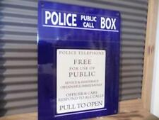 Retro Vintage Estilo De Pared De Metal Cartel Placa De Policía telefónicas públicas box-fab!
