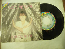 "MIKO MISSION@ HOW OLD ARE YOU- disco 45 giri BLOWUP italy 1984"" ITALO DISCO"
