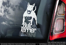 Bull Terrier - Car Window Sticker - Dog Sign -V07