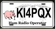 License Plate for Ham Amateur Radio Operator
