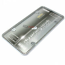 Clear Diamond Bling Crystals Chrome License Plate Tag Frame for Auto-Car-Truck