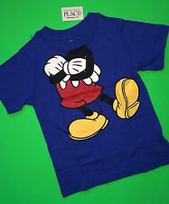 NEW! Disney Mickey Mouse Body Baby Boys Graphic Shirt 4T Gift! Blue Cute! SS