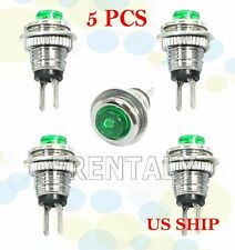 Green 5Pcs M3 Mini Momentary On/Off Lockless Micro Push Button SPST Switch