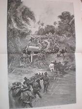 Español American War Battle San Juan Santiago de Cuba un feo esquina 1898 Print