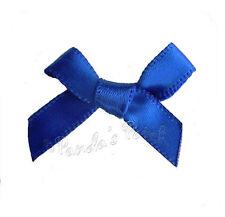 7mm Satin Mini Ribbon Bows 30pk 50pk or 100pk 26 Colours