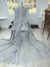 "SALE!! EXQUISITE HUGE 58""X90"" FRENCH STYLE DOVE GREY LACE/NET CURTAINS/PANELS"