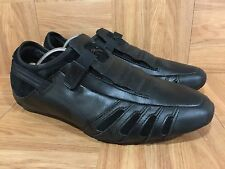 RARE�� PUMA Vedano Men's Driving Casual Shoes Sz 9 Black Leather Red Slip On LE