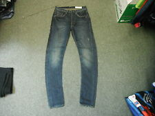 "All Saints arc Leg Jeans Waist 26"" Leg 33"" Faded Dark Blue Mens Jeans"
