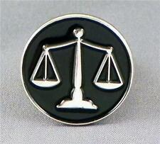 Scales of Justice Enamel & Metal Lapel / Pin Badge -24mm BRAND NEW