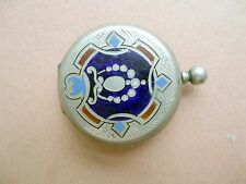 Silver NIELLO ENAMEL Ottoman Empire Hunting Pocket Watch Case . Marks 84