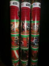 3 NEW ROLLS STAR WARS CHRISTMAS GIFT WRAPPING WRAP PAPER STORMTROOPER 40 SQ FT