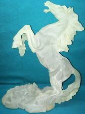 Beautiful Frosted Glass HORSE  Paperweight