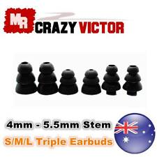 6pcs S/M/L Triple Flange Silicone Replacements earbud Tips for In-ear headphone