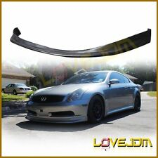 NS Style Bk PU Front Bumper Lip Spoiler Bodykit Fit for 03-06 Infiniti G35 Coupe