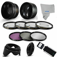 FISHEYE LENS + TELEPHOTO ZOOM LENS + PRO ACCESSORIES KIT FOR CANON EOS T3 T5 T4
