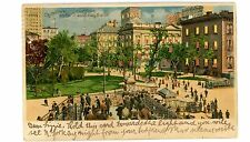 New York City NYC-CITY HALL &SUBWAY STATION-J Koehler Hold to Light HTL Postcard