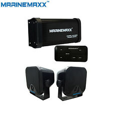 "Waterproof ATV UTV Bluetooth Amp Car Stereo 500Watts 4Channel+4""Outdoor Speakers"