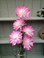 Lotus Flower Stems Artificial Silk Pale Pink £14.99 For 5 stems