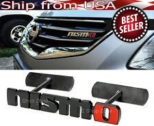 Bolt on Metal Red Black NISMO Front Emblem Badge For Grill Billet  For NIssan