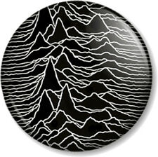 "Joy Division Unknown Pleasures 1"" Pin Button Badge Band Ian Curtis New Wave Blck"