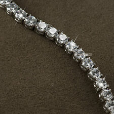 18k white gold gf genuine SWAROVSKI crystal beaded chain bracelet