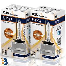 2 x D3S Genuine LUNEX XENON BULB PK32d-5 Original 35W 4300K Colour Match +50%