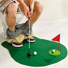 Toilet WC Mini Golf Fun Game Potty Putter Golf Trainer Practise New Novelty Gift