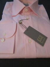 $225 NWT IKE BEHAR NEW YORK CLASSIC PINK  DRESS SHIRT GOLD LABEL 15.5 LS 32/33
