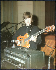 THE BEATLES POSTER PAGE 1966 JOHN LENNON IN THE RECORDING STUDIO . F10