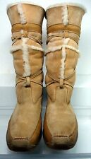 TECNICA Tan Leather Shearling Lined Mid-Calf Boots Women Sz.8.5