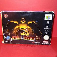VINTAGE NINTENDO 64 N64 MORTAL KOMBAT 4 CARTRIDGE VIDEO GAME PAL VERSION BOXED