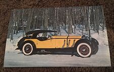 "Vintage Postcard Unposted Automobile 1928 Mercedes Benz ""S"" Sport Touring Yellow"