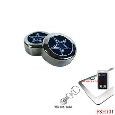 Brand New NFL Dallas Cowboys Chrome License Plate Frame Screw Caps