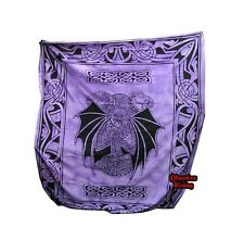 Cleopatra Dragon Purple Celtic Tie Dye Hand Dyed Cotton Double Bed Spread Sheet