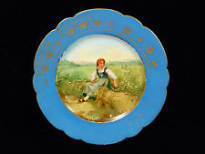 SIGNED SEVRES CHATEAU DES TUILERIES HAND PAINTED PORTRAIT PLATE – CIRCA 1880