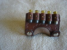 SASS leather 45 long colt 5 loop snap on belt slide (20 days to get it done)
