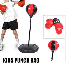 Free Standing Kids Punch Bag Ball And Mitts Gloves Kit Children Boxing UK Stock