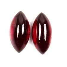Nice GARNET MARQUISE 6.00 Cts Loose Stone 1 Pair Cabochon12x6 mm ebay India