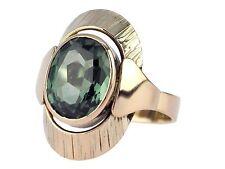 Art Deco 333 Gelb Gold grüner Turmalin Solitär Damen Ring !
