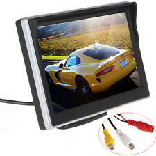 5Inch TFT LCD 2-CH Video Input Car RearView Monitor 12V For VCD/DVD/GPS/Camera