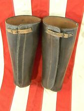 WWI Soldier Leather Gaiters Shin Guards Spatts Leggings Harley Indian Motorcycle