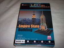 "Empire State Building 3D Puzzle with LED,38 Pieces, Ages 6+, 6.4"" x 4.7"" x 15.1"""
