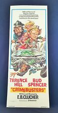 Original 1979 CRIMEBUSTERS Half Sheet Movie Poster 14 x 36 TERRENCE HILL
